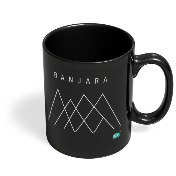 Banjara Minimalist Illustration Black Coffee Mug Online India