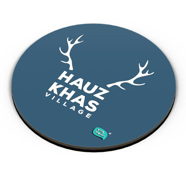 Hauz Khas Village Funny Minimalist Fridge Magnet Online India