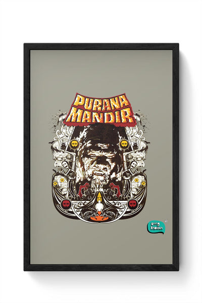 Purana Mandir Illustration Framed Poster Online India