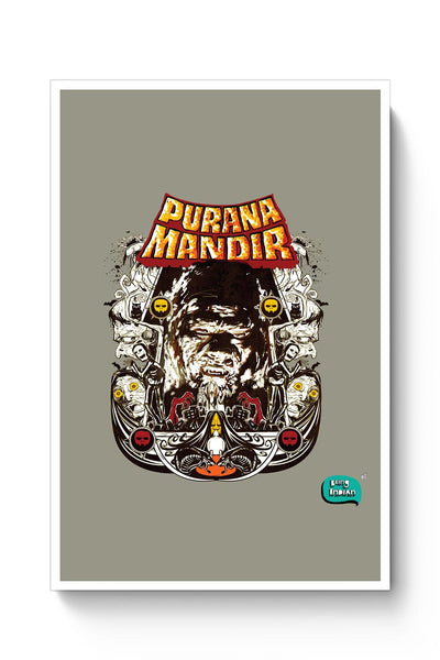 Purana Mandir Illustration Poster Online India