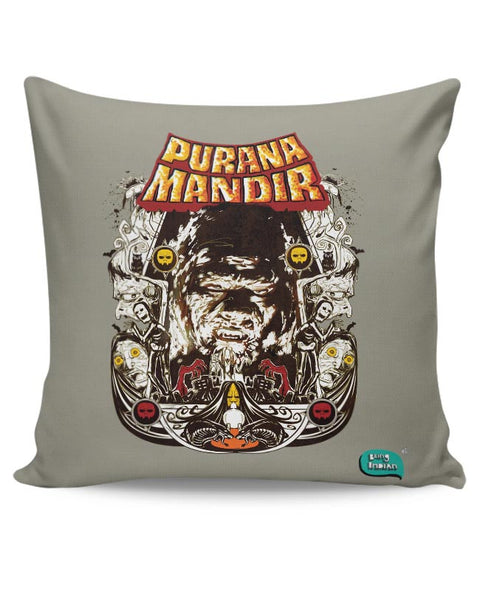 Purana Mandir Illustration Cushion Cover Online India