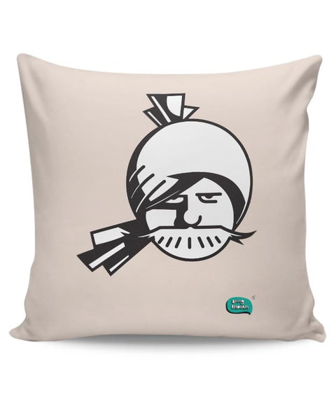 Indian Man Minimalist Illustration  Cushion Cover Online India