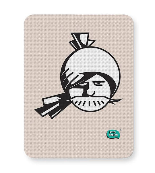 Indian Man Minimalist Illustration  Mousepad Online India