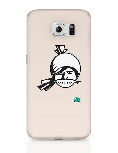Indian Man Minimalist Illustration  Samsung Galaxy S6 Covers Cases Online India