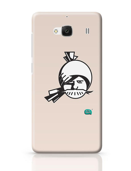 Indian Man Minimalist Illustration  Redmi 2 / Redmi 2 Prime Covers Cases Online India