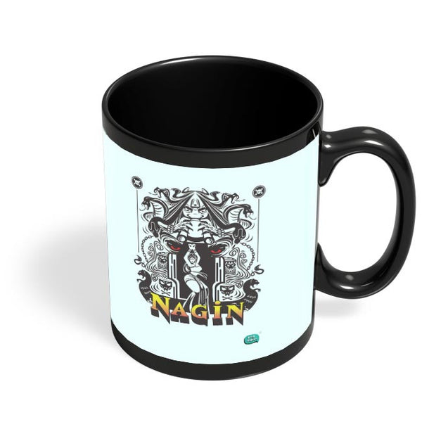Nagin Line Art Illustration Black Coffee Mug Online India