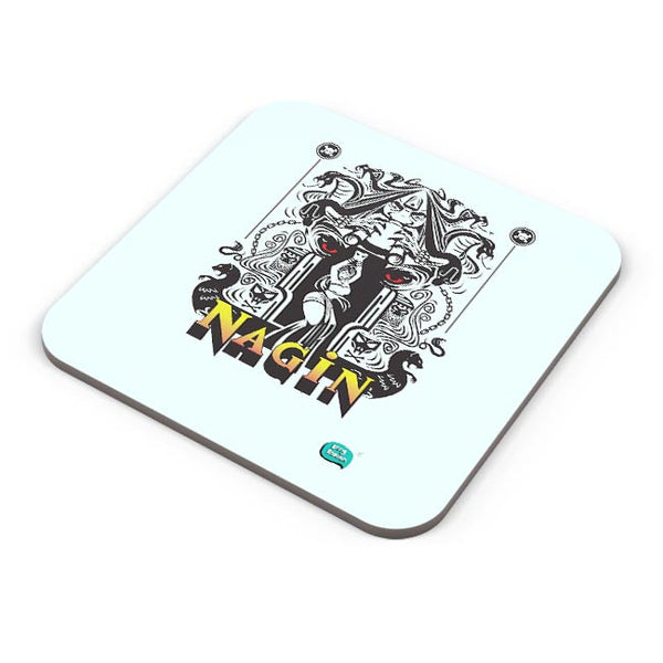 Nagin Line Art Illustration Coaster Online India