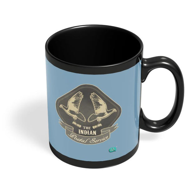 The Indian Postal Service Black Coffee Mug Online India
