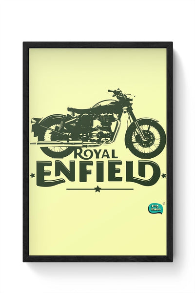 Being Indian Royal Enfield Standard Graphic Illustration Framed Poster Online India