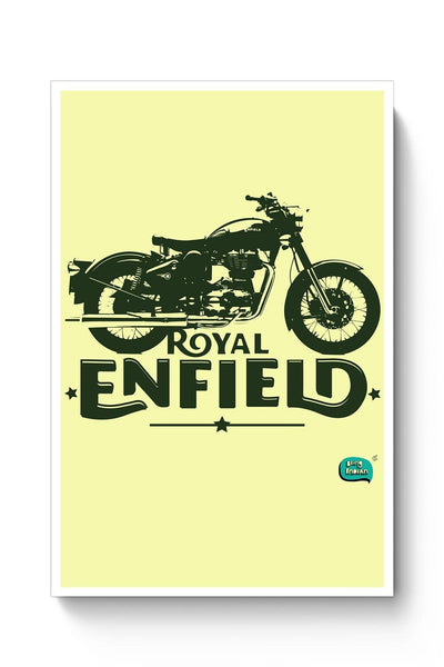 Being Indian Royal Enfield Standard Graphic Illustration Poster Online India