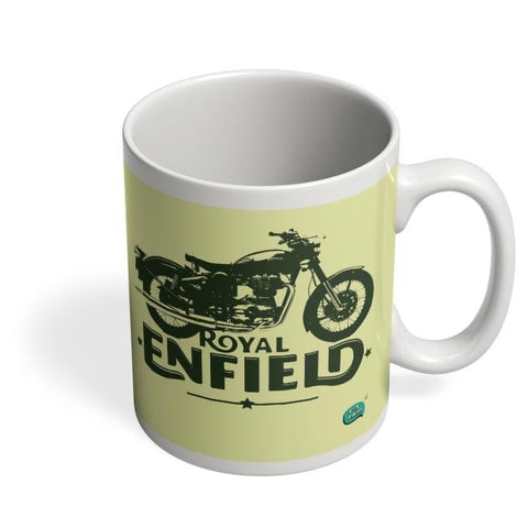Being Indian Royal Enfield Standard Graphic Illustration Coffee Mug Online India