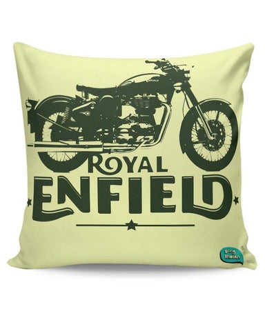 Being Indian Royal Enfield Standard Graphic Illustration Cushion Cover Online India