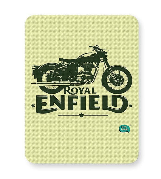 Being Indian Royal Enfield Standard Graphic Illustration Mousepad Online India