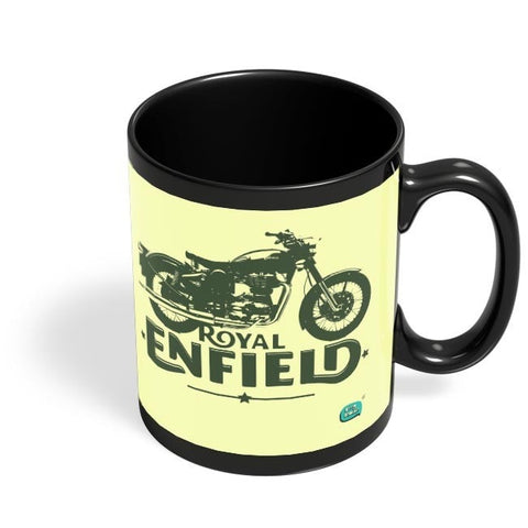 Being Indian Royal Enfield Standard Graphic Illustration Black Coffee Mug Online India