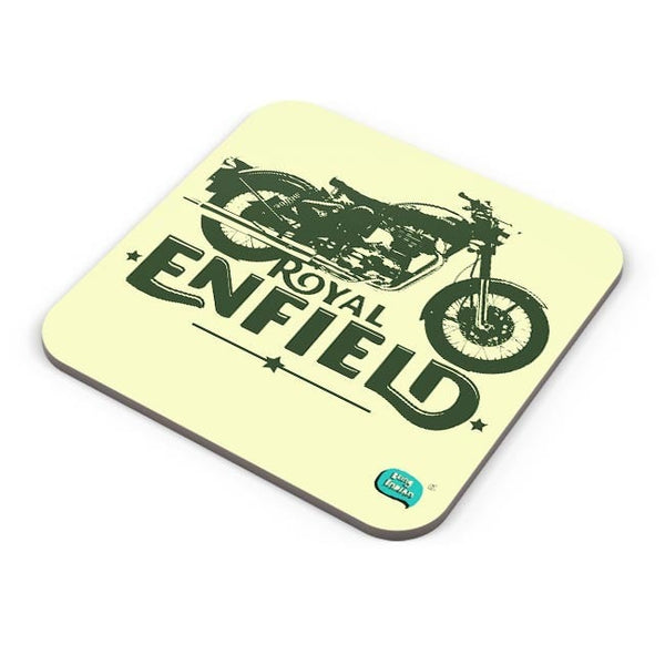 Being Indian Royal Enfield Standard Graphic Illustration Coaster Online India