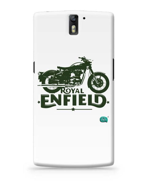 Being Indian Royal Enfield Standard Graphic Illustration OnePlus One Covers Cases Online India