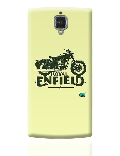Being Indian Royal Enfield Standard Graphic Illustration OnePlus 3 Covers Cases Online India