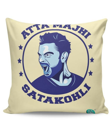Being Indian Atta Majhi Satakohli(Virat Kohli ) Cushion Cover Online India