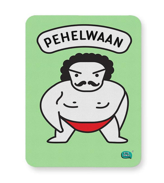 Pehelwaan Minimal Illustration Mousepad Online India