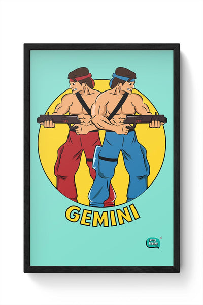 Gemini | Contra Inspired Framed Poster Online India
