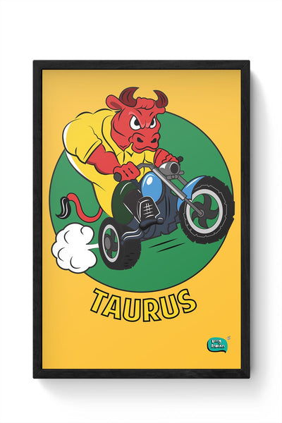 Taurus The Angry Bull Framed Poster Online India