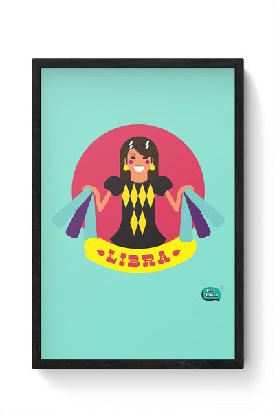 Libra Zodiac Illustration Framed Poster Online India