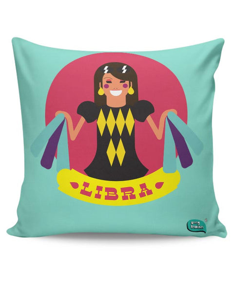 Libra Zodiac Illustration Cushion Cover Online India