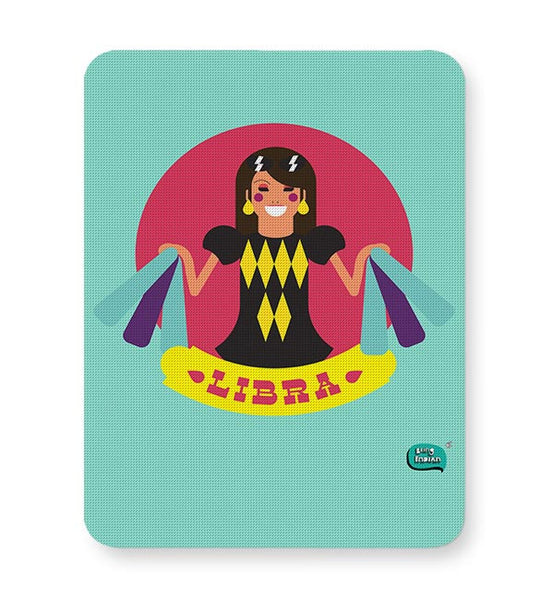 Libra Zodiac Illustration Mousepad Online India