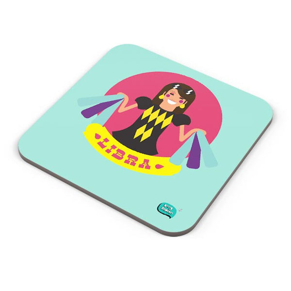 Libra Zodiac Illustration Coaster Online India