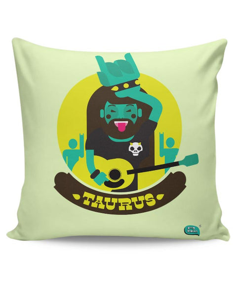 The Happy Taurus Zodiac Cushion Cover Online India