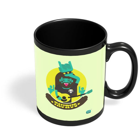 The Happy Taurus Zodiac Black Coffee Mug Online India