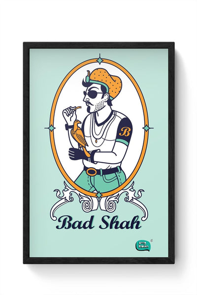 Bad Shah Illustration Framed Poster Online India