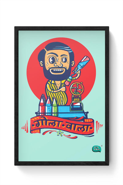Gola Wala Illustration Framed Poster Online India