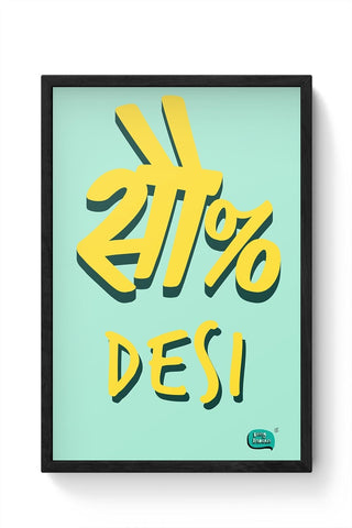 100 % Desi Framed Poster Online India