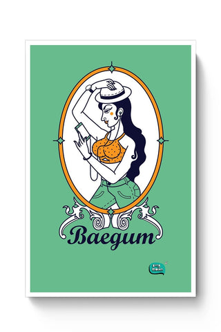 Baegum Illustration Poster Online India