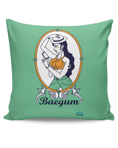 Baegum Illustration Cushion Cover Online India