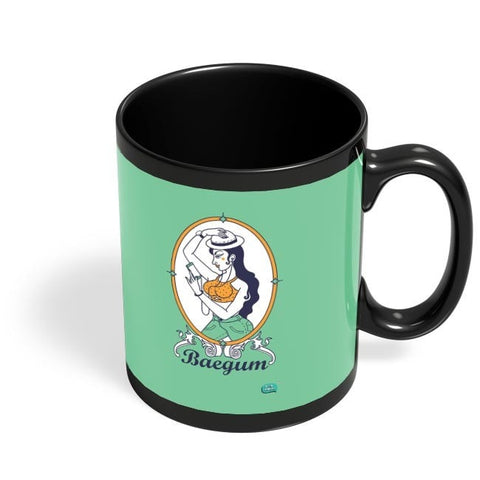 Baegum Illustration Black Coffee Mug Online India