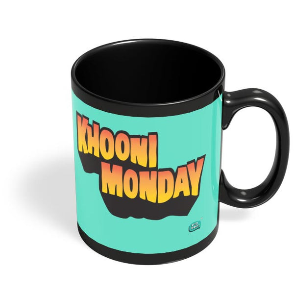 Khooni Monday  Black Coffee Mug Online India
