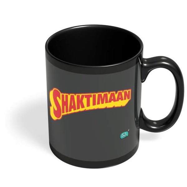 Shaktimaan  Black Coffee Mug Online India