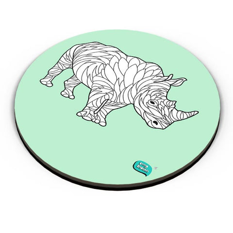 Rare Rhinocorous Portrait Fridge Magnet Online India