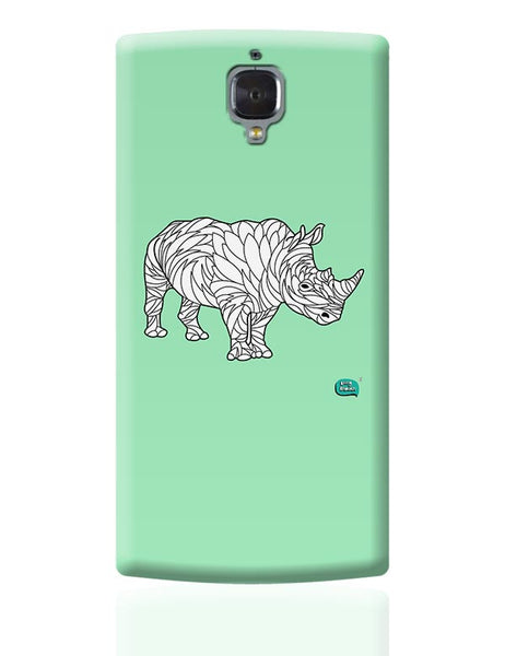 Rare Rhinocorous Portrait OnePlus 3 Covers Cases Online India