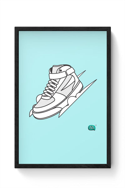 Sport Shoes Illustration Framed Poster Online India