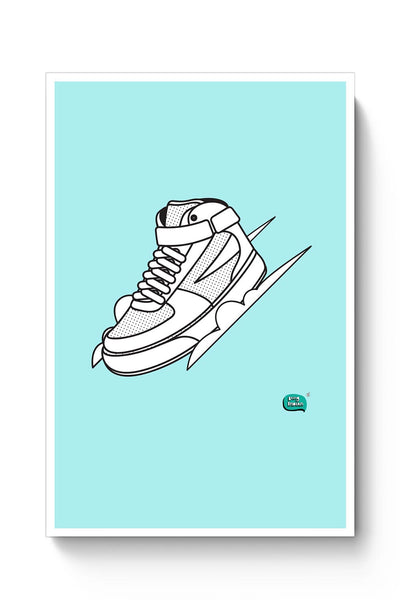 Sport Shoes Illustration Poster Online India
