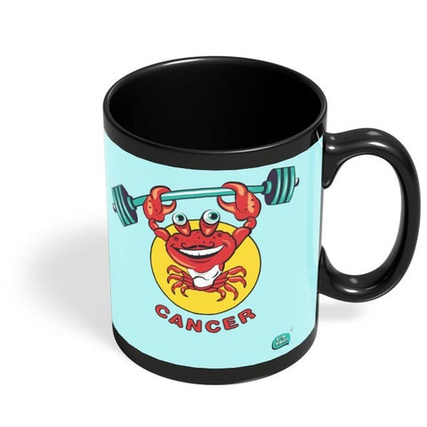 Cancer Zodiac Sign Digital Art Black Coffee Mug Online India