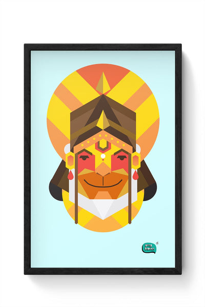 Hanuman JI | Illustration Framed Poster Online India