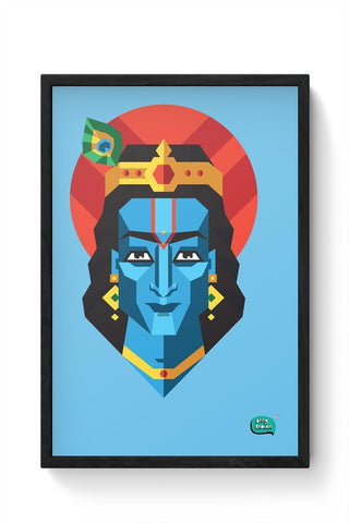 Being Indian Lord Krishna Framed Poster Online India