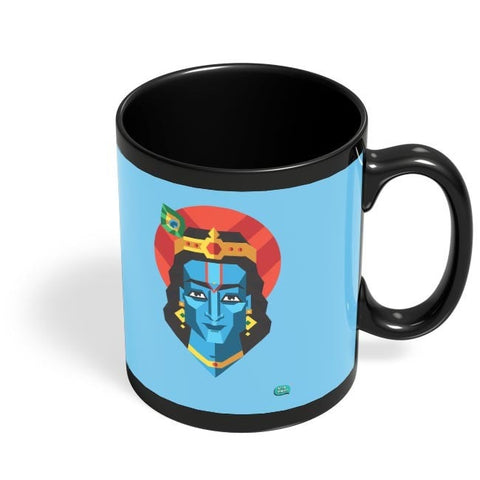 Being Indian Lord Krishna Black Coffee Mug Online India