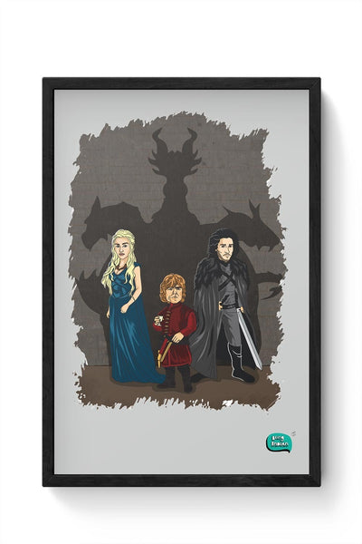 Being Indian Targaryen Family Framed Poster Online India
