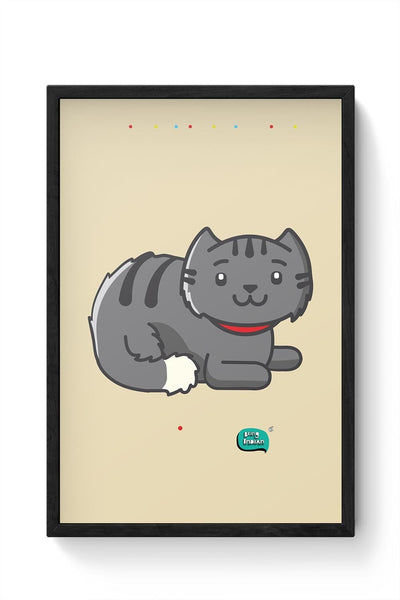 Being Indian Fluffy Cat  Framed Poster Online India