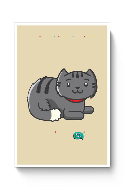 Being Indian Fluffy Cat  Poster Online India